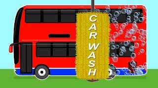 Bus Car Wash | Fun Videos For Children And Babies | Fun Car Cartoons