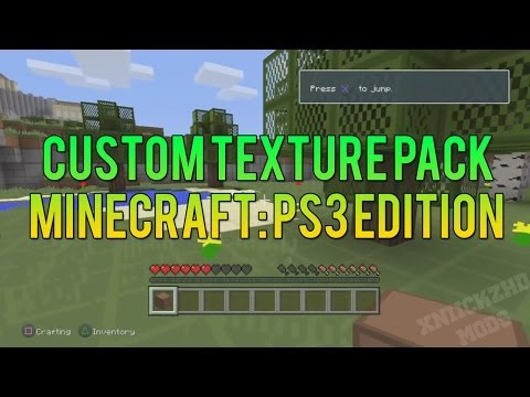 Minecraft PS3 Edition Custom Texture Pack Mod!
