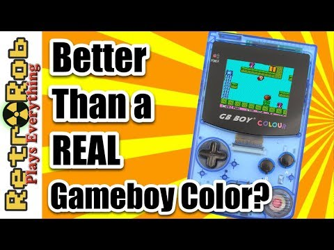Is this Clone Better Than the Real Gameboy Color? GB Boy Unboxing and Review (better sound)