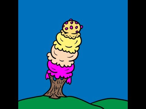 Drawing Ideas for Kids #385 How to Draw an Ice Cream Tree