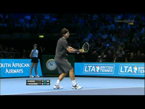 Roger Federer vs Rafael Nadal ATP Barclays World Tour Finals 2011 Round Robin 1080p Highlights