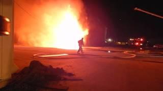 Mattoon Illinois fire 12/31/15 The beginning of it