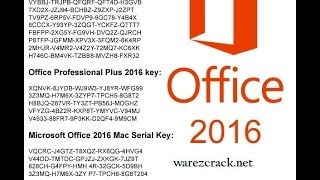 Microsoft Office 2016 Product Activation Key free 10000 % working oct.2016
