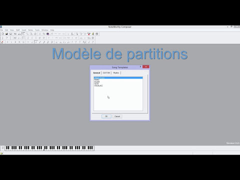 Noteworthy Composer | Tuto partie 1 | http://xavierravel.weebly.com