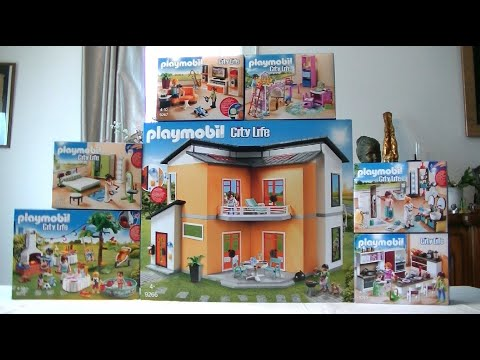 Unboxing Playmobil (fr) : La Maison Moderne (2017)   9266, 9267, 9268,  9269, 9270, 9271, 9272   YouTube