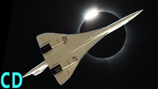 Eclipse 2017 - NASA Chasing the Shadow at 50,000 ft | Concorde 1973