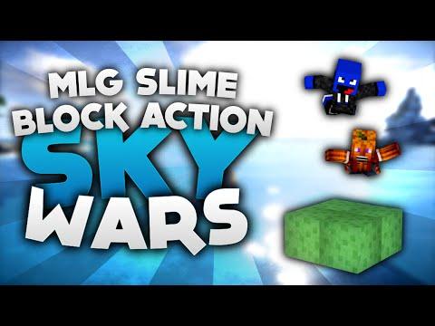 MLG SLIME BLOCK ACTION! - Minecraft Sky Wars!   DieBuddiesZocken