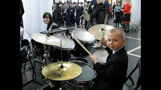 Europe - The Final Countdown - Drummer Daniel Varfolomeyev 8 year