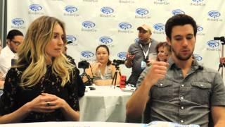 Sarah Carter and Drew Roy of Falling Skies at WonderCon 2015