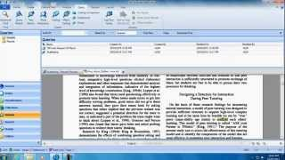 NVivo for your literature review- online tutorial