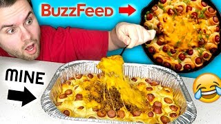 I tried to make a buzzfeed recipe... DIY Chili Cheese Dog Ring! Tasty Test