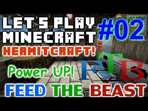 Let's Play Minecraft Hermit FTB ep 2 - Power Up!