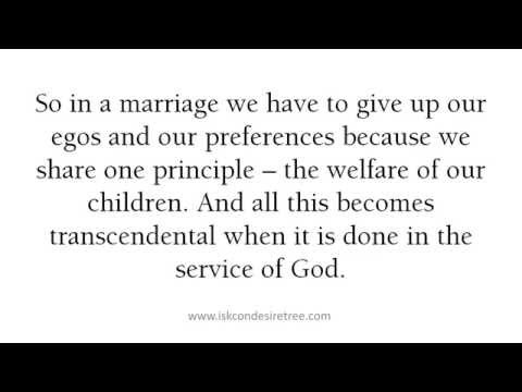 Principles for a harmonious marriage