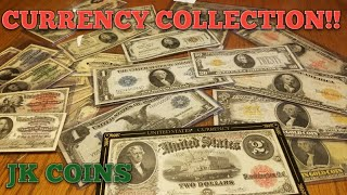 CURRENCY COLLECTION! Silver Certs, Gold Certificates, Large Size Notes!