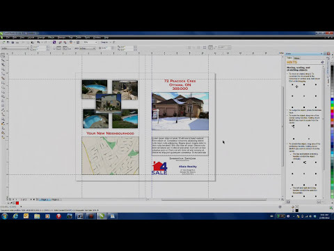 Creating A Marketing Brochure Template in CorelDRAW Graphics Suite X6