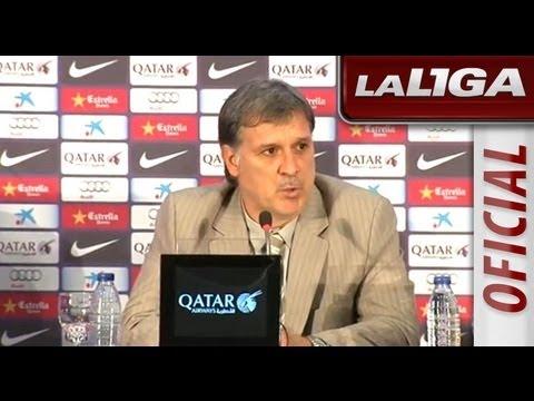 Presentación de Gerardo Tata Martino con el FC Barcelona