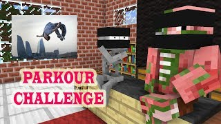 Monster School : PARKOUR CHALLENGE 2 -Minecraft Animation