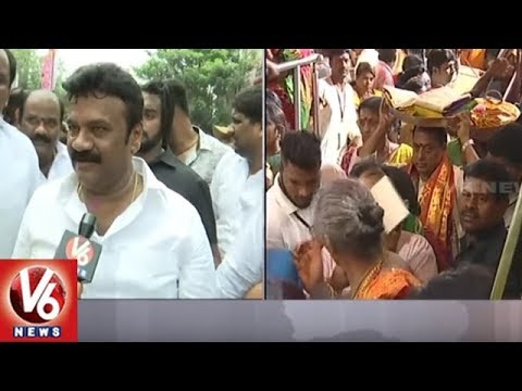 Minister Talasani Srinivas Yadav Dance At Lashkar Bonalu 2018 | V6 News