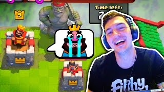 Trolling Lower Levels!! Clash Royale [X-Bow, Mortar, Goblin Barrel]