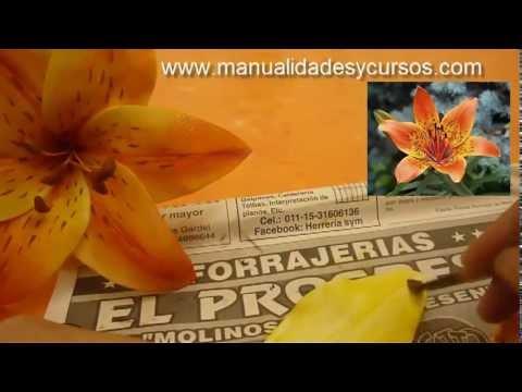 Flores de goma Eva paso a paso - como hacer matices en las flores
