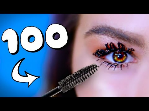 100+ coats of mascara