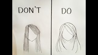 Do's and Don'ts in drawing anime hair