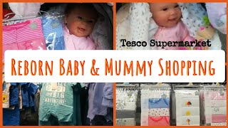 Reborn Heidi out with mummy shopping in Tesco