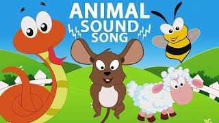 sons de animais | aprender sons de animais | Animal Sounds Song