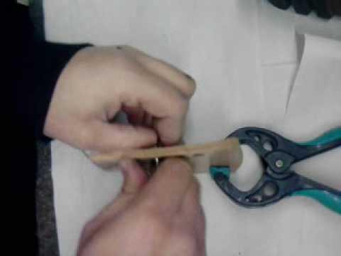 Como coser cuero a mano