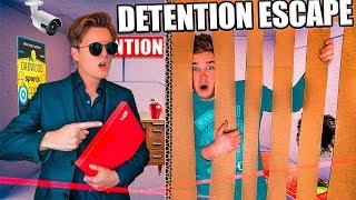 BOX FORT High School - ESCAPE Detention & CONFRONTING The PRINCIPAL (Challenge)
