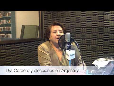Dra Maria Luisa Cordero y elecciones en Argentina