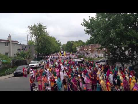 NAGAR KIRTAN 19 MAY, 2013 GURUDAWARA NANAK DARBAR SAHIB MONTREAL CANADA