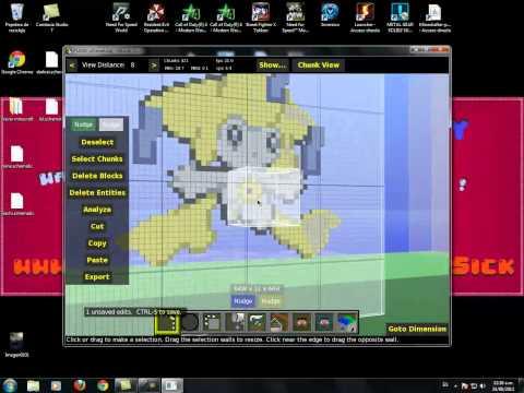 #Tutorial - Como crear un PixelArt en minecraft Facil y Rapido