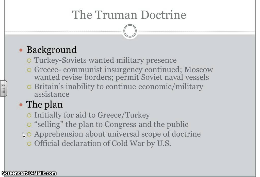 Truman Doctrine and Marshall Plan - YouTube