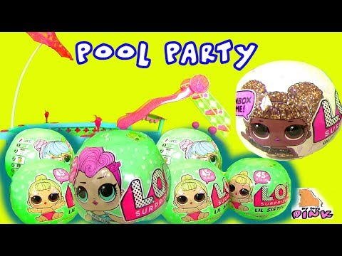 Видео для Детей Pool Party #LOL Surprise Blind Bags КУКЛЫ ЛОЛ В БАССЕЙНЕ! МАЙ ТОЙС ПИНК КОНКУРС