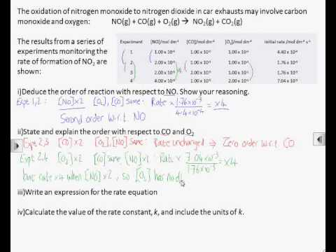 How2: Determine orders, rate equation and rate constant using the initial rates method