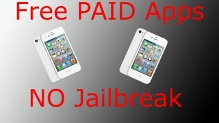 How to get PAID APPS for FREE! NO JAILBREAK! LEGAL!