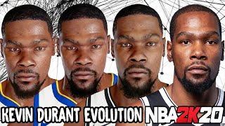 Kevin Durant Ratings and Face Evolution (College Hoops 2K7 - NBA 2K20)