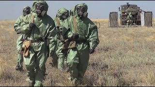 Russia's hazmat teams conduct drills in Southern Military District