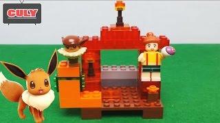 Bóc hộp lắp ráp Lego Pokemon Go mới Eevee Brick toy for kid