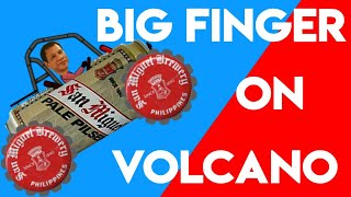 bigfinger car on volcano. hill climb racing 1.19.1