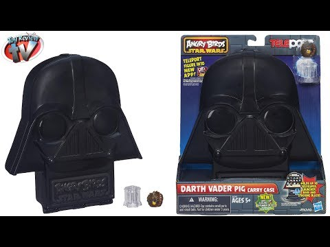 Angry Birds Star Wars Telepods: Darth Vader Pig Carry Case Toy Review. Hasbro