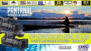AO VIVO 20 Encontro Estadual de Clubes de Lao Clube de Lao Corao Pantaneiro MirandaMS