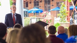 Adam Silver, NBA Commissioner Speaks at Duke Political Science Graduation