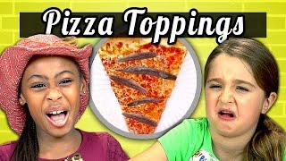 KIDS vs. FOOD - PIZZA TOPPINGS