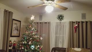 Elf on the Shelf on the Ceiling Fan