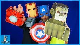 Marvel Superhero Avengers Paper Toys For Kids | MariAndFriends