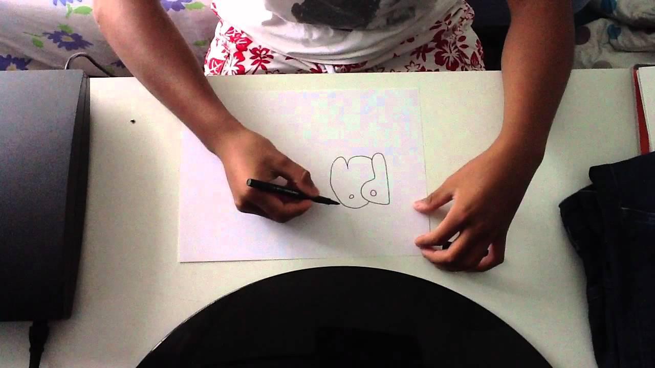faire un tag arrondi graphisme sur papier youtube. Black Bedroom Furniture Sets. Home Design Ideas