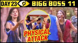 Hina Gets PHYSICAL With Bandgi | Bigg Boss 11 Day 23 – Episode 23 | 24th October Full Episode Update