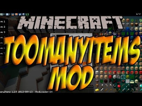 Minecraft 1.5.1 - Como Instalar TOO MANY ITEMS MOD - ESPAÑOL [HD] 1080p